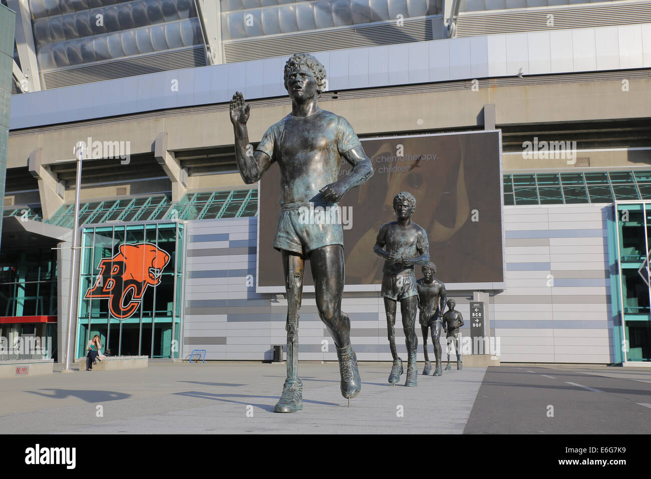 Terry Fox monument sculptures BC Place Vancouver Stock ... | 1300 x 956 jpeg 184kB