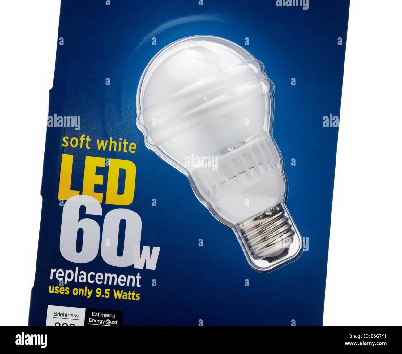 Energy efficient LED lightbulb - Stock Image