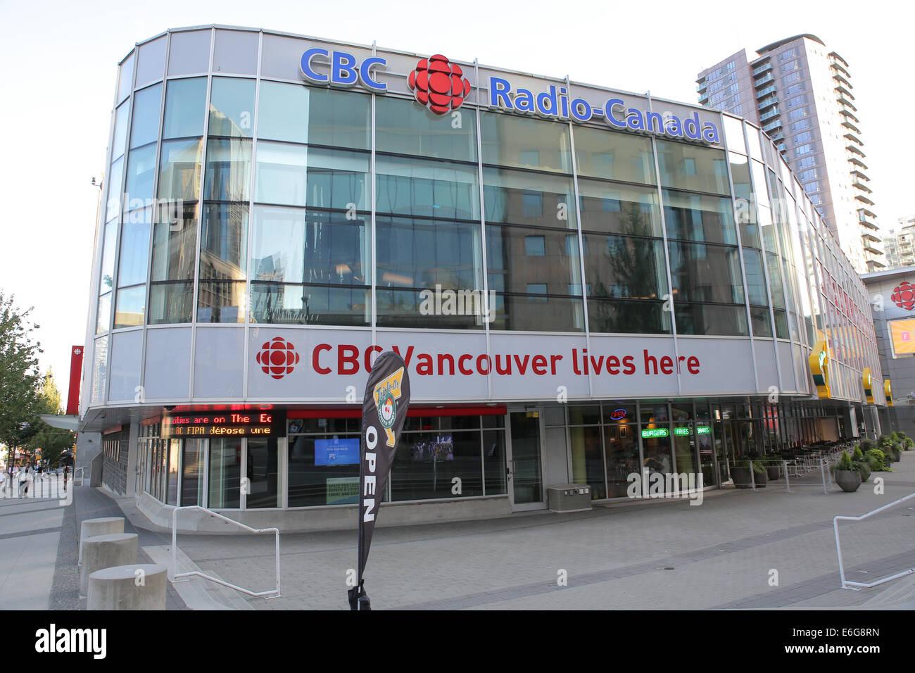 CBC radio station headquarter office building Vancouver Stock Photo