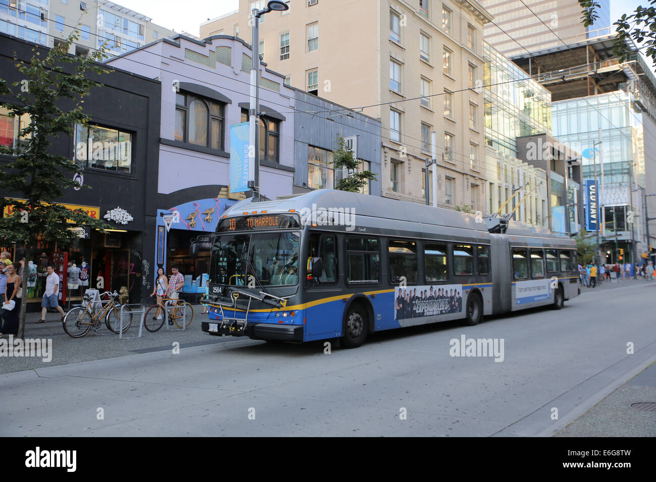 Vancouver public transportation bus - Stock Image