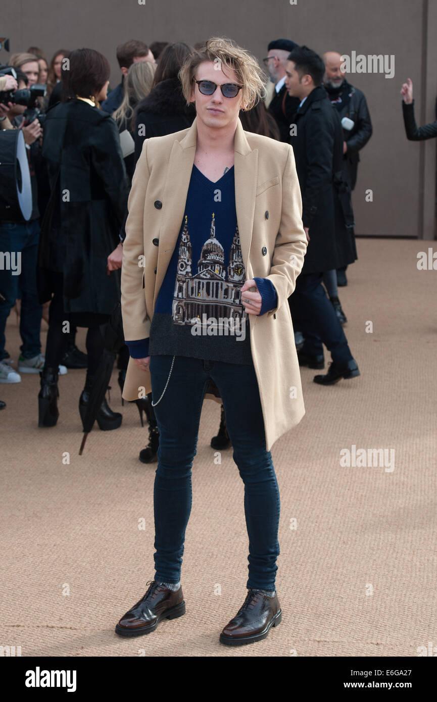 6df100043b8c LFW London Fashion Week  Burberry Prorsum A W held at Kensington Gardens -  Arrivals. Featuring  Jamie Campbell Bower Where  London