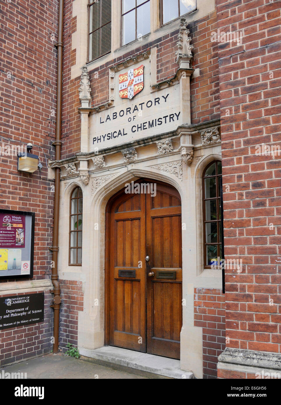 Laboratory of Physical Chemistry Department of Chemistry Cambridge England - Stock Image