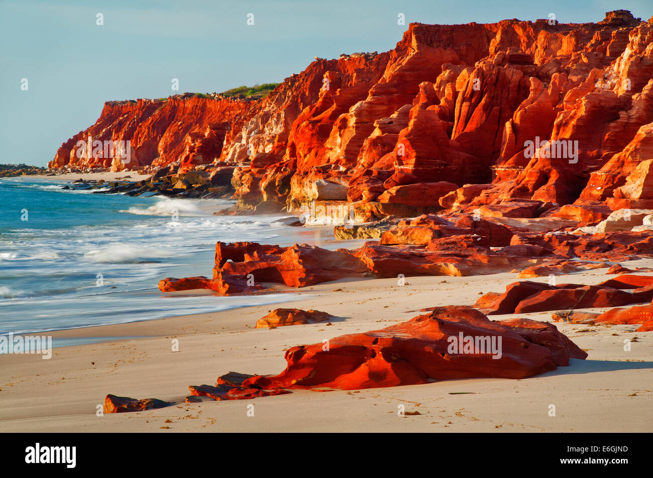 Red cliffs at Cape Leveque. - Stock Image