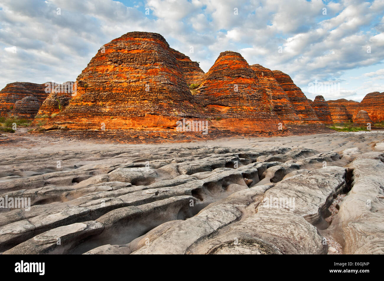 Beehive Domes of Purnululu National Park. - Stock Image