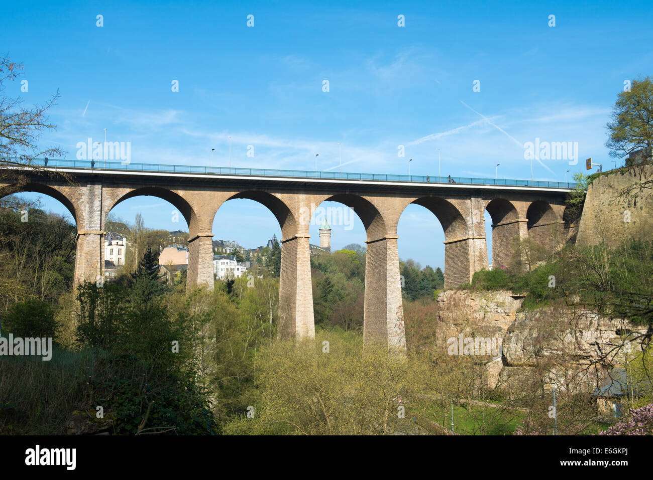 The Passerelle (or Luxembourg Viaduct) in Luxemburg. - Stock Image