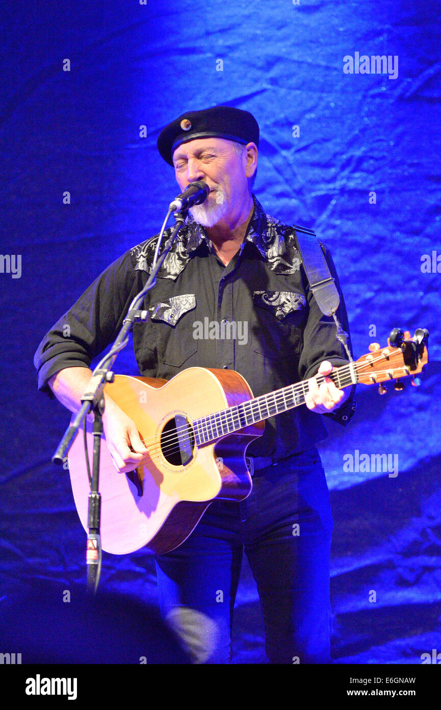 Towersey Festival, Oxfordshire, UK. 22nd August, 2014. Richard Thompson plays at Towersey Festival, Oxfordshire, - Stock Image