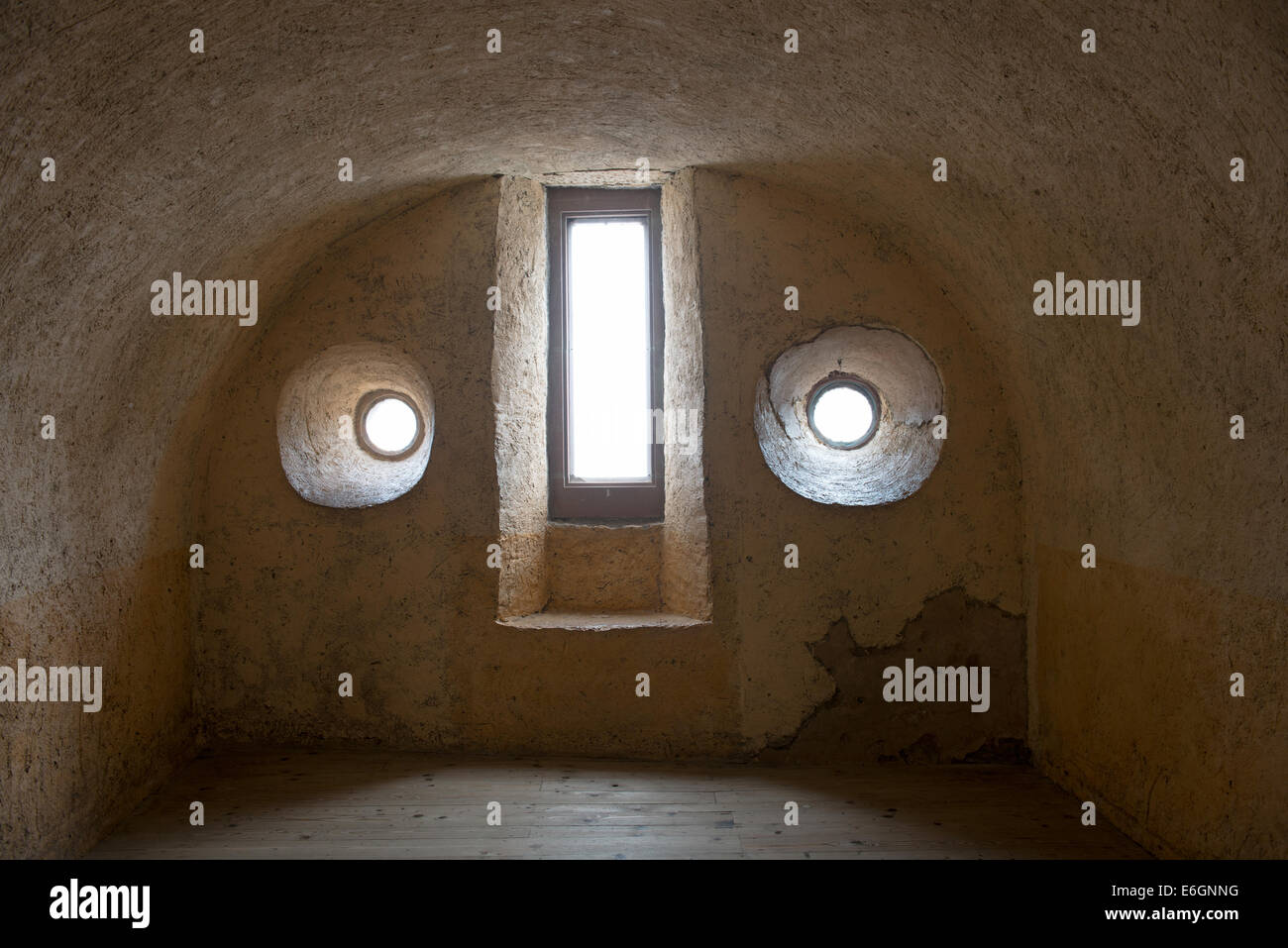 Interiors of the Vianden castle in luxembourg - Stock Image