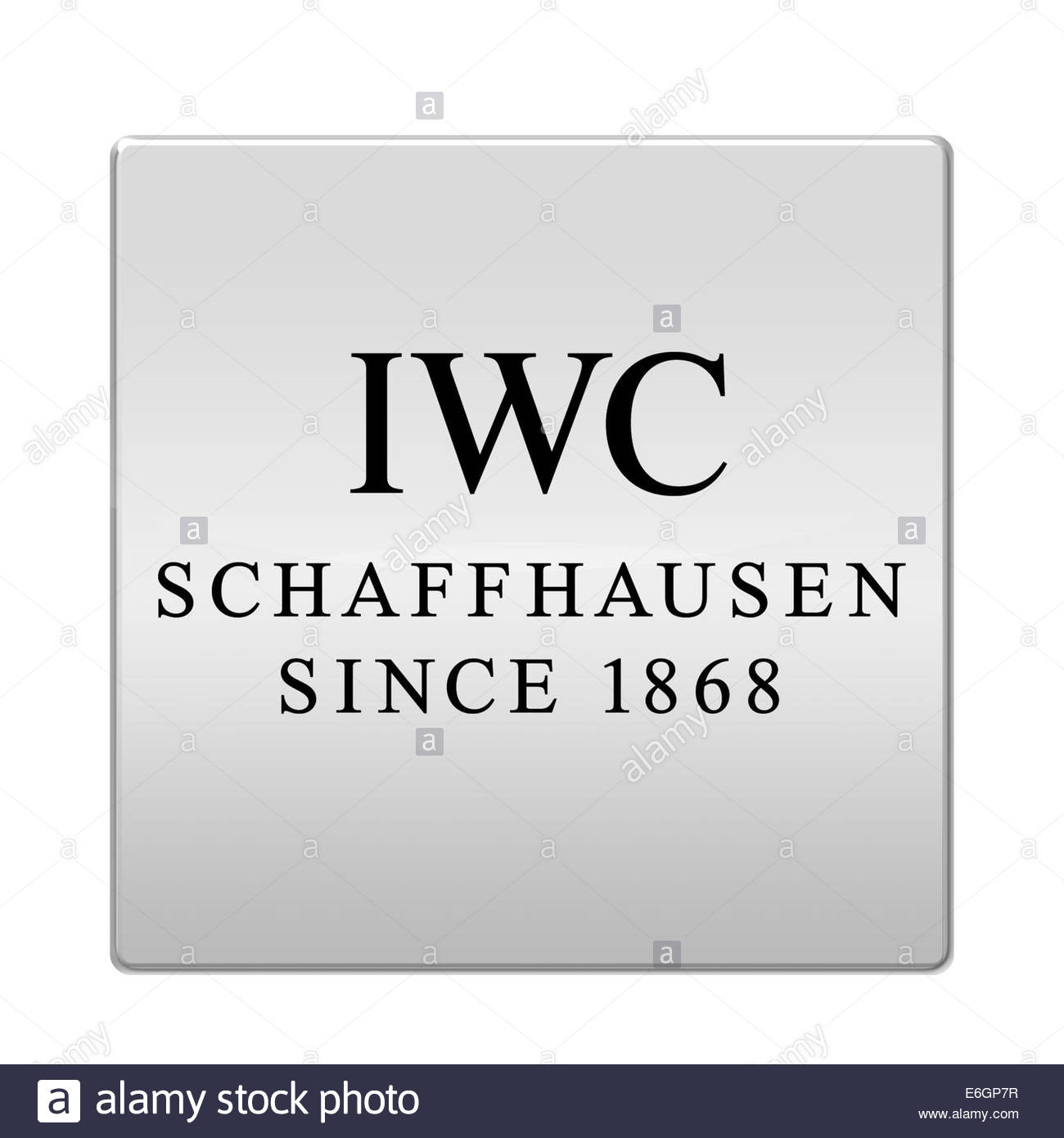 International Watch Company IWC logo icon isolated app button - Stock Image