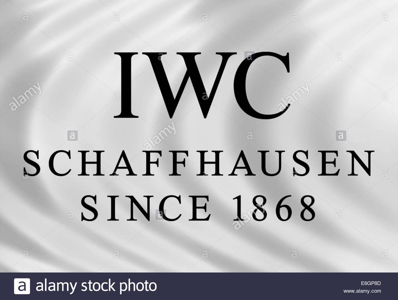 International Watch Company IWC logo icon isolated flag - Stock Image
