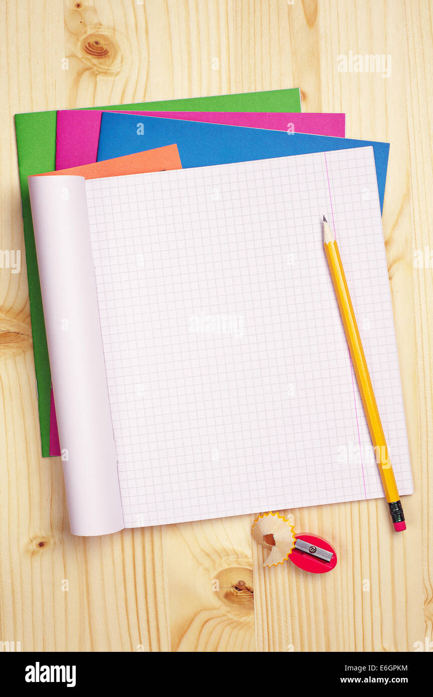 Exercise Book Page Stock Photos & Exercise Book Page Stock