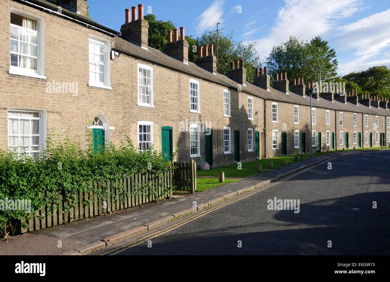 brick Terraced housing, Cambridge England - Stock Image