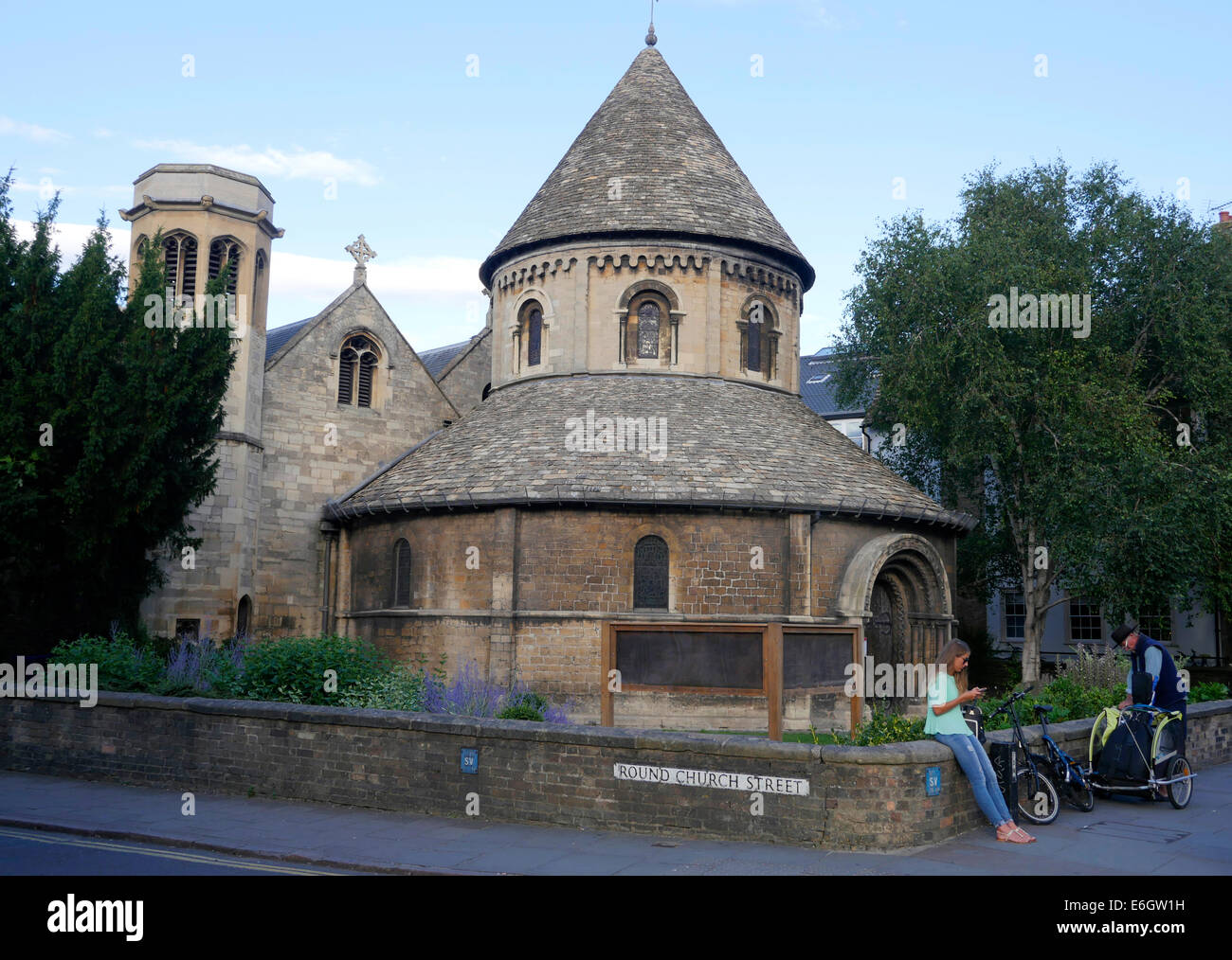 The Church of the Holy Sepulchre, Round Church Street Cambridge England - Stock Image