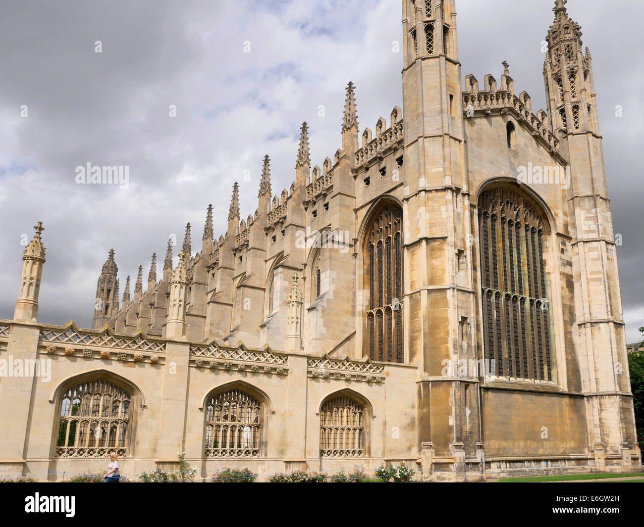 Kings College and Kings College Chapel, Cambridge England - Stock Image