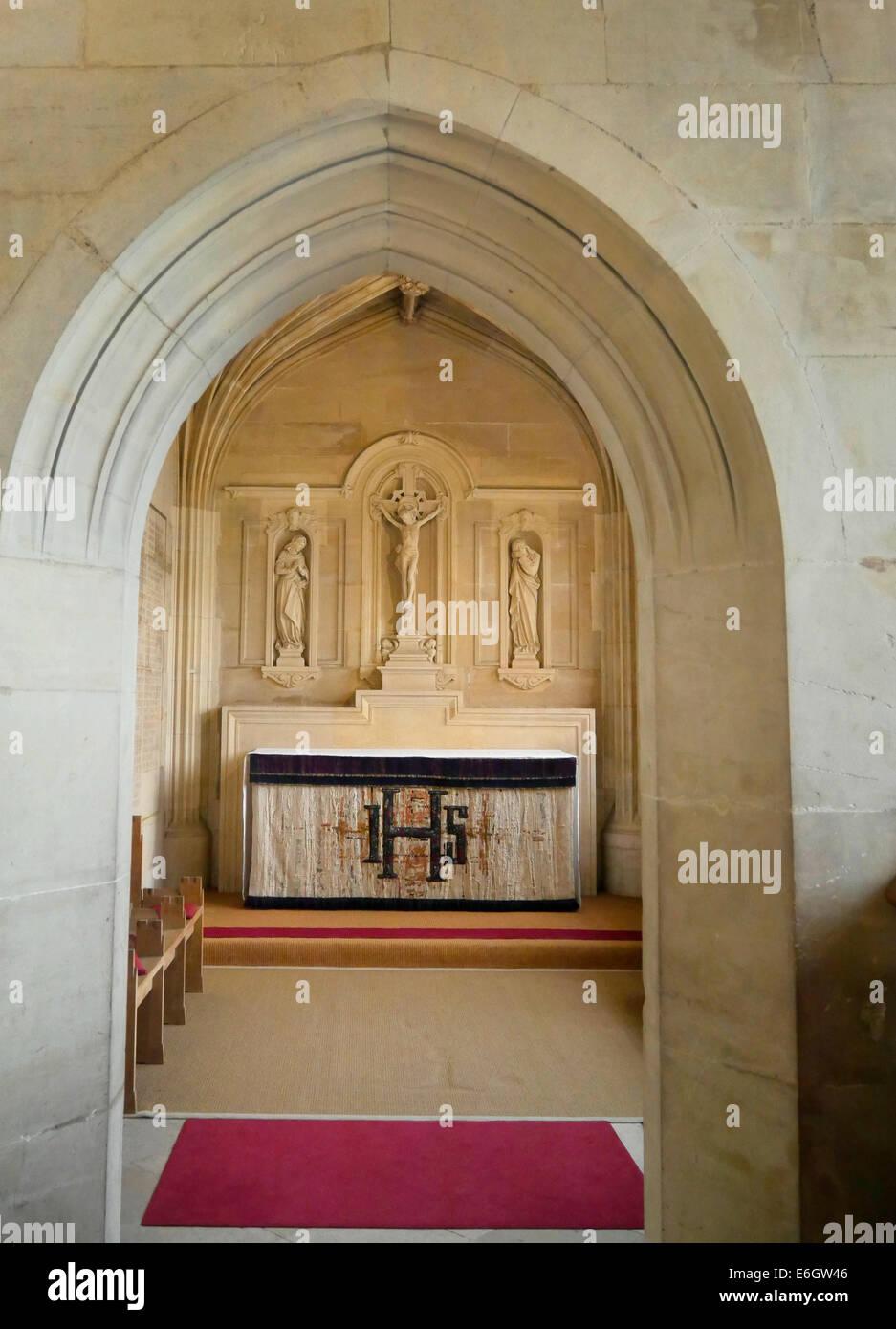 interior of kings college chapel cambridge england - Stock Image