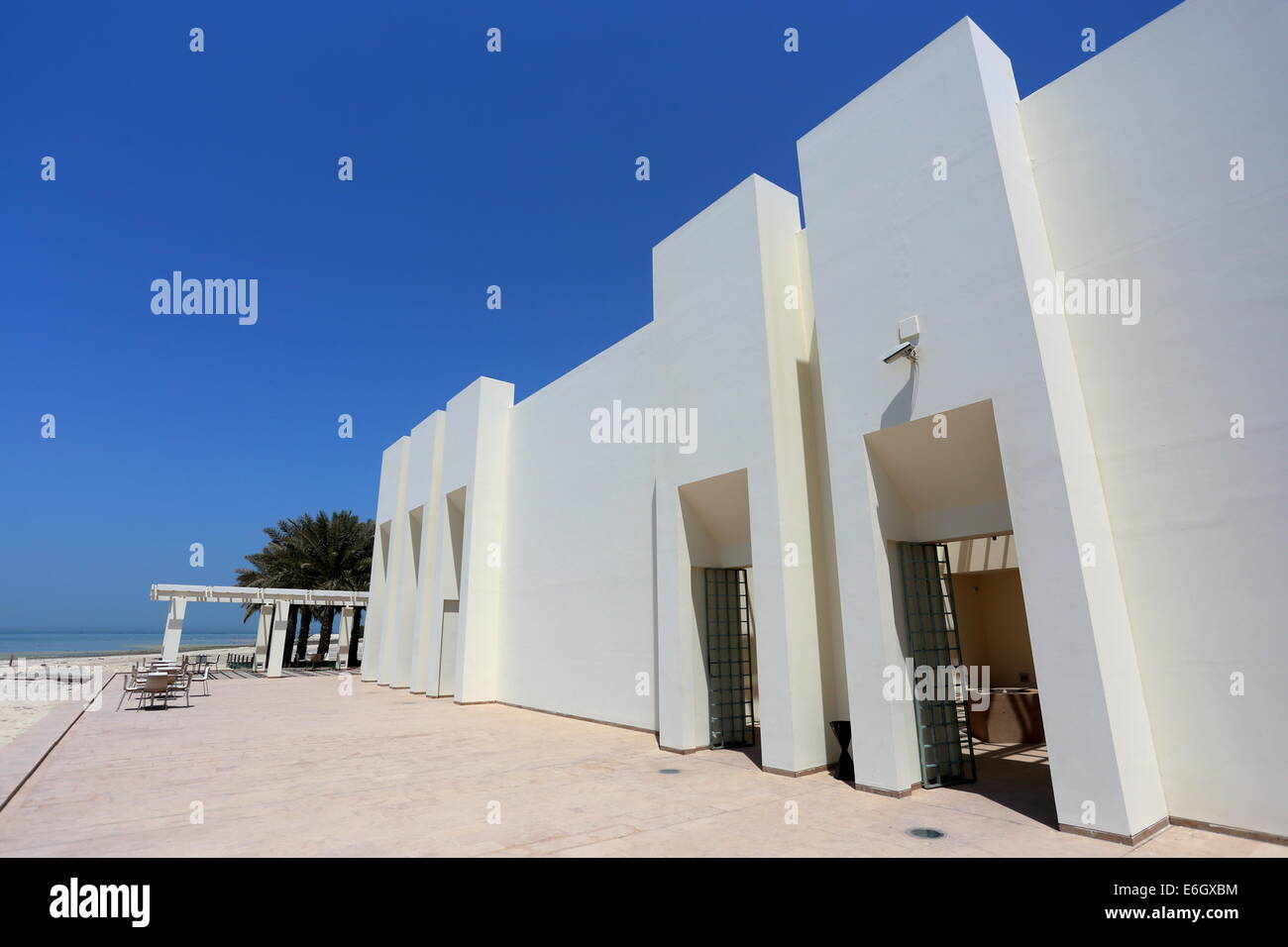 Rear entrance to the Bahrain Fort Museum, Al Qalah, Kingdom of Bahrain - Stock Image