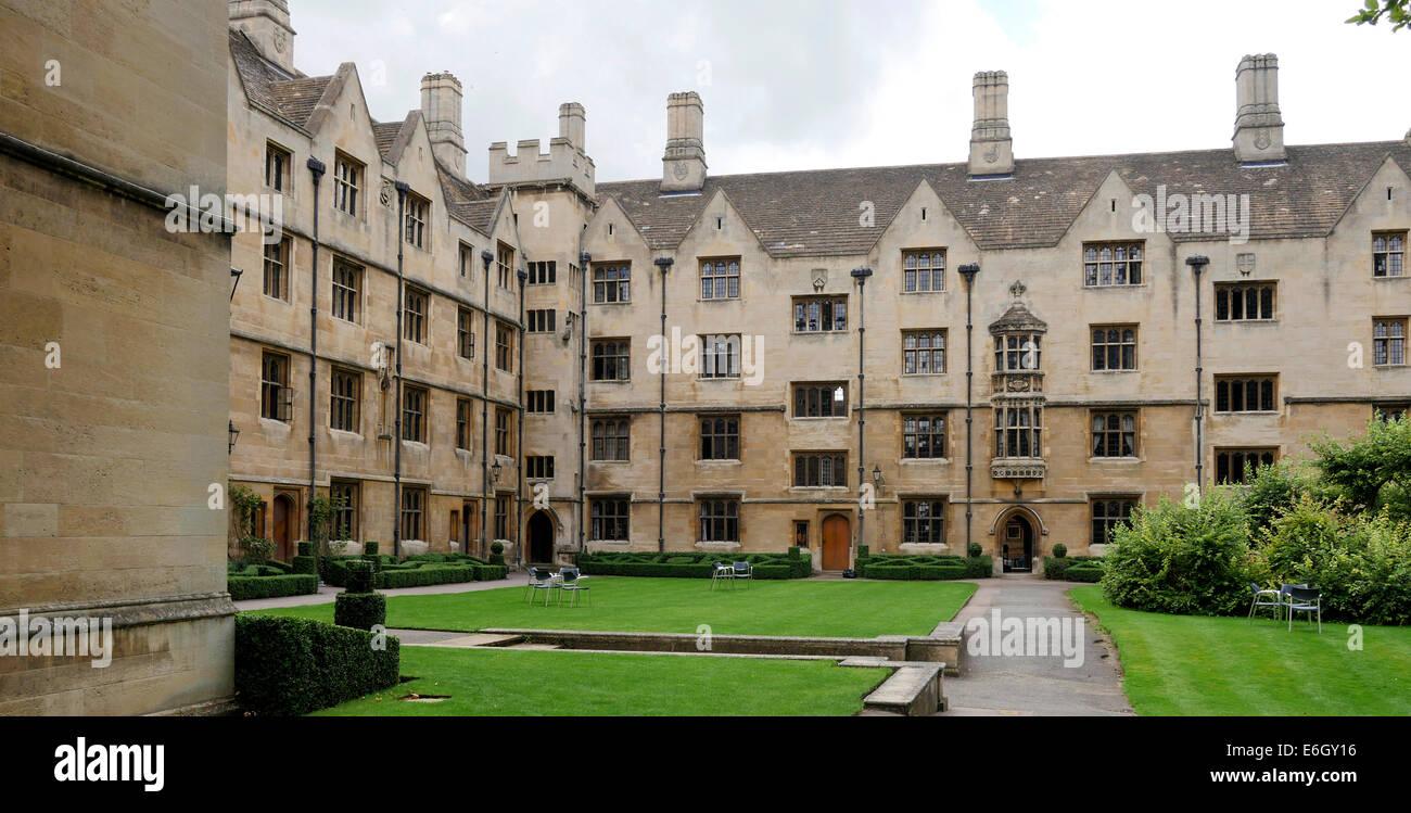 Kings College grounds, Cambridge University, Cambridge England - Stock Image