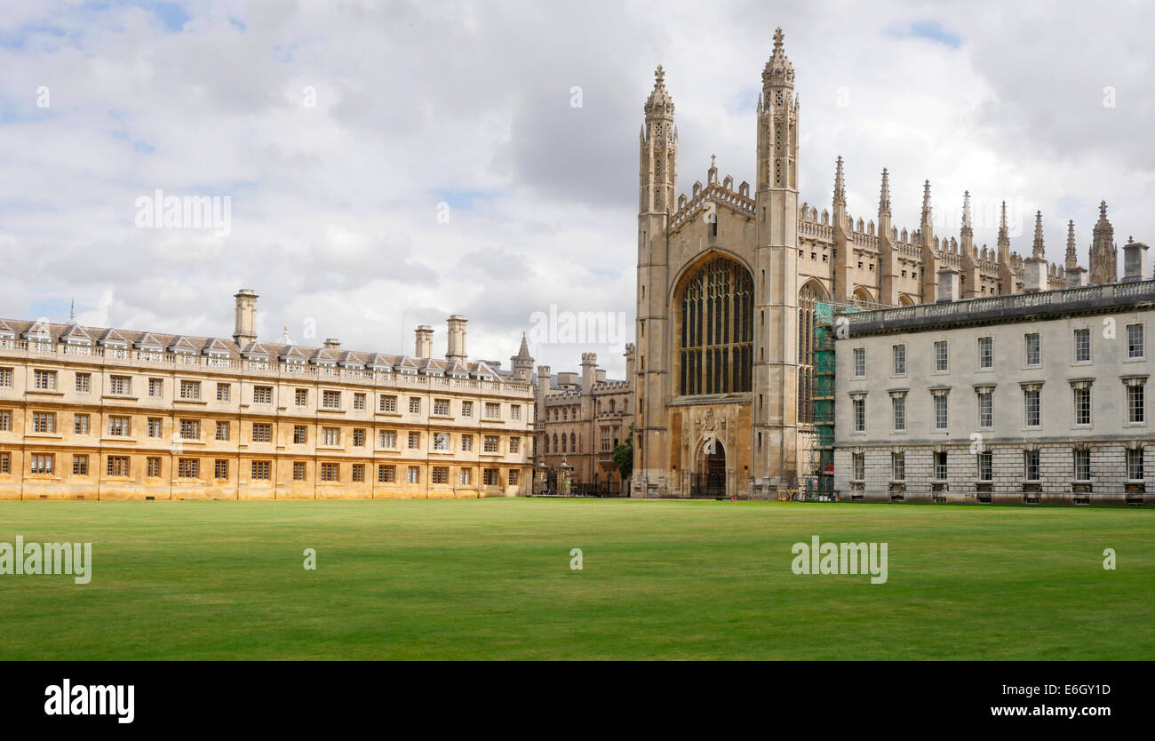Kings College grounds, Cambridge University, Cambridge England - Stock Image