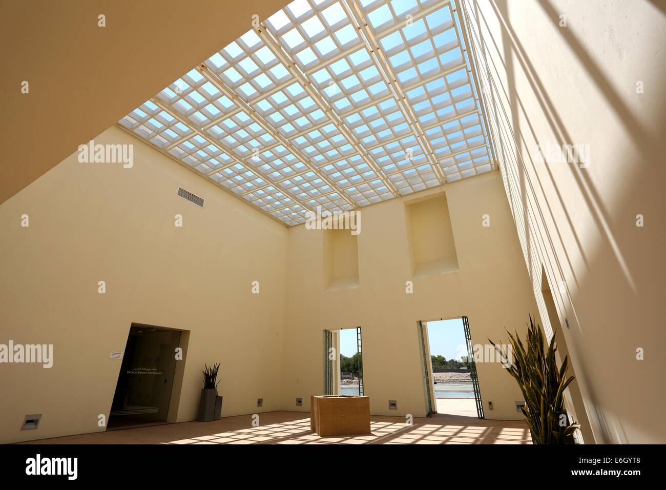 Entrance to the Bahrain Fort Museum, Al Qalah, Kingdom of Bahrain Stock Photo