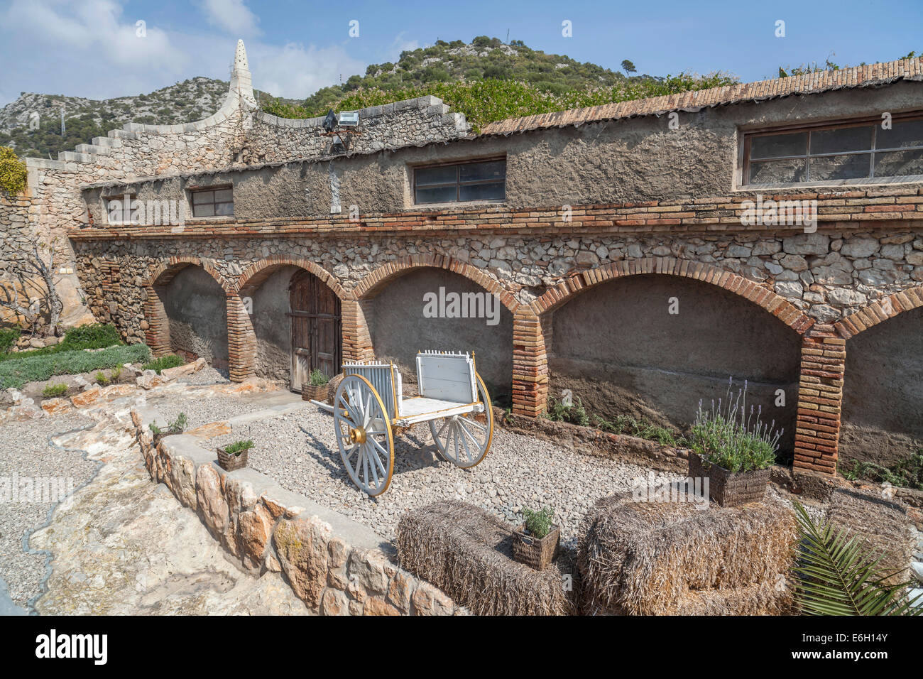 Celler Güell by Antoni Gaudí,Garraf,Sitges,Catalonia,Spain. - Stock Image