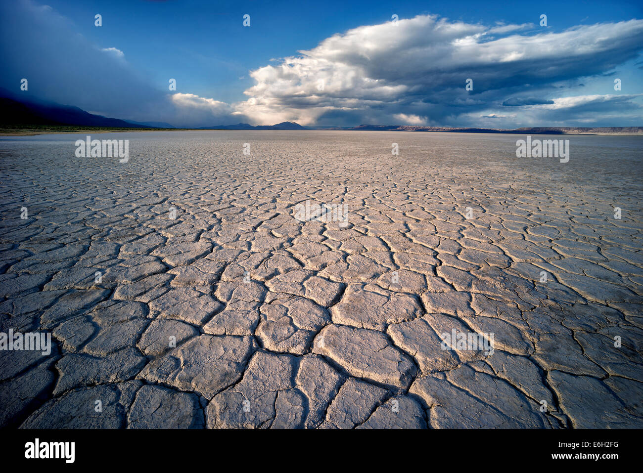 Alvord Desert and clouds Harney County, Oregon. - Stock Image