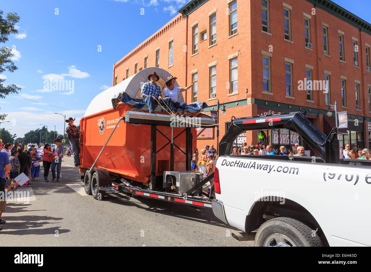 Loveland Colorado Usa 23 August 2014 A Parade Float Consisting Of Stock Photo Alamy