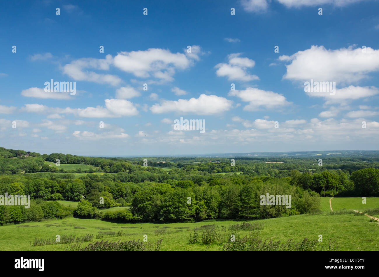 View From The Toys Hill In The Sevenoaks District Of Kent England