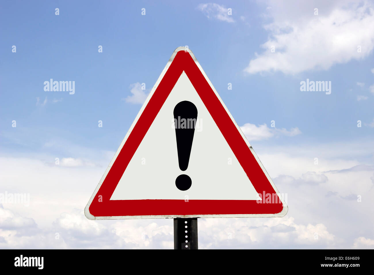 exclamation sign - Stock Image