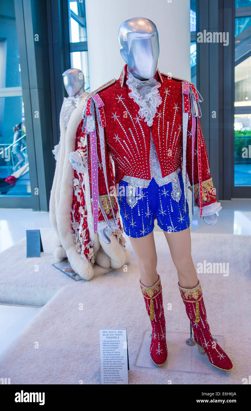 Liberace costume at the  Liberace and The Art of Costume  exhibition in Cosmopolitan hotel in Las Vegas & Liberace costume at the