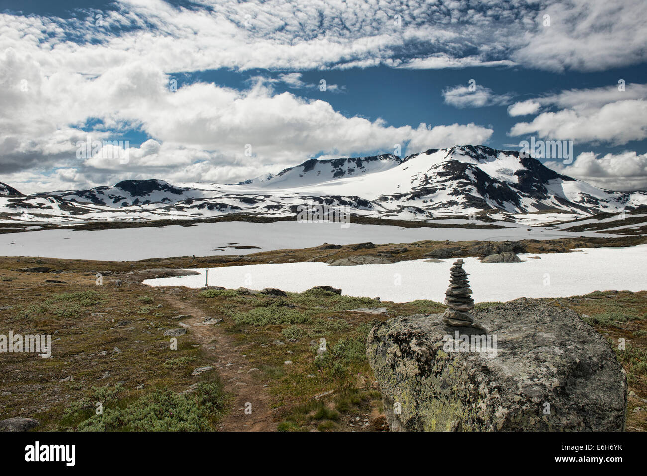 alpine scenery in Jotunheimen National Park, Norway - Stock Image