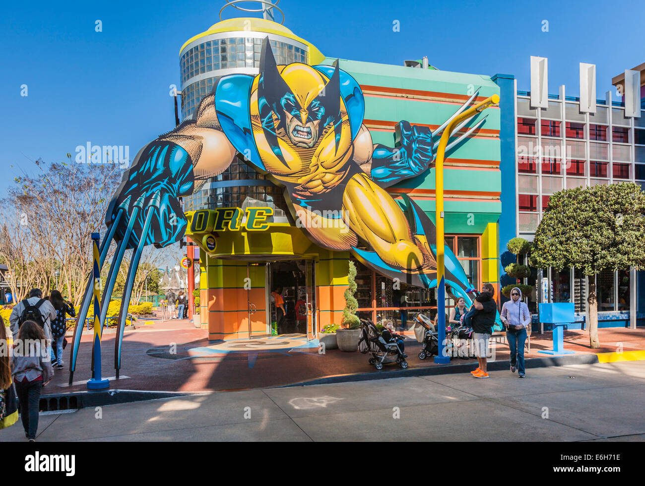 Marvel Alterniverse Store in Super Hero Island at Universal's Islands of Adventure in Orlando, Florida - Stock Image