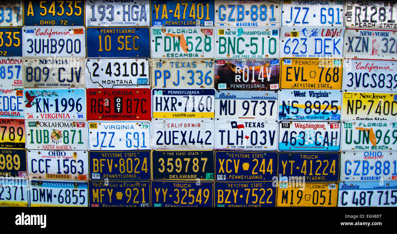 License Plates Stock Photos & License Plates Stock Images - Alamy
