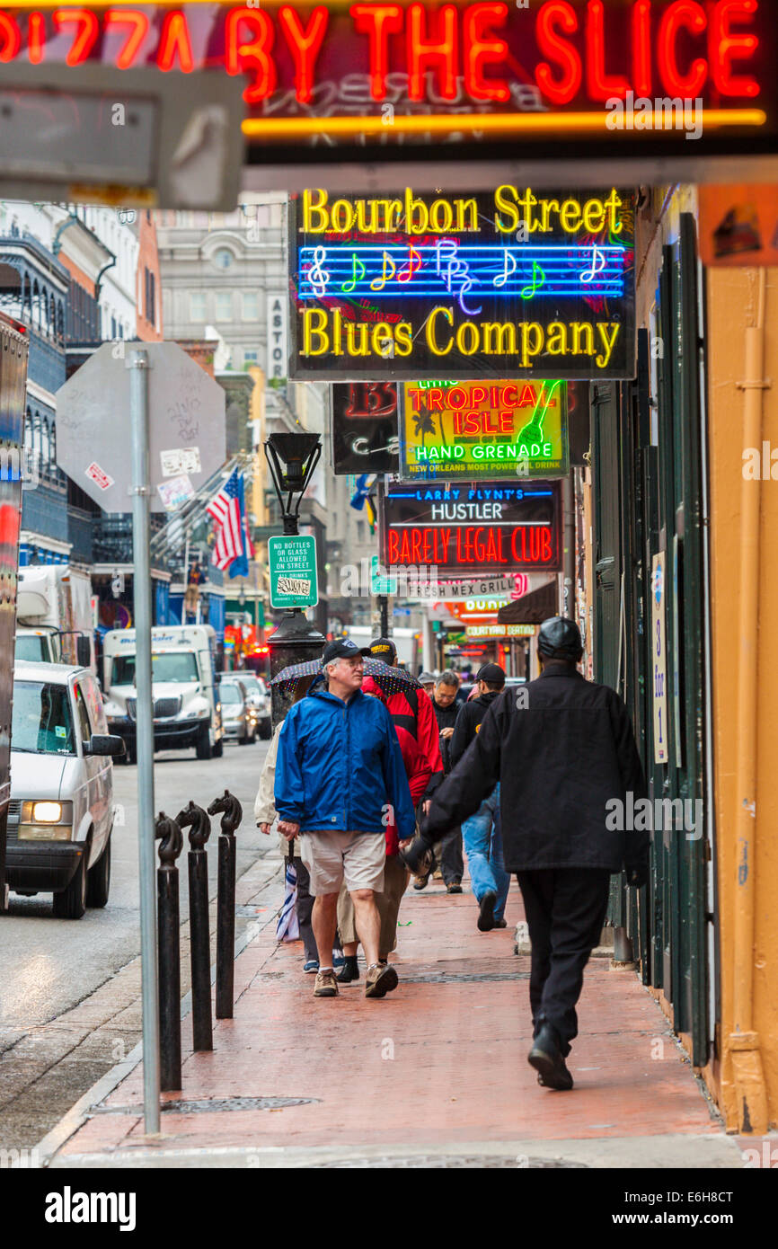 Neon Signs Lure Customers Into Clubs And Restaurants On Bourbon