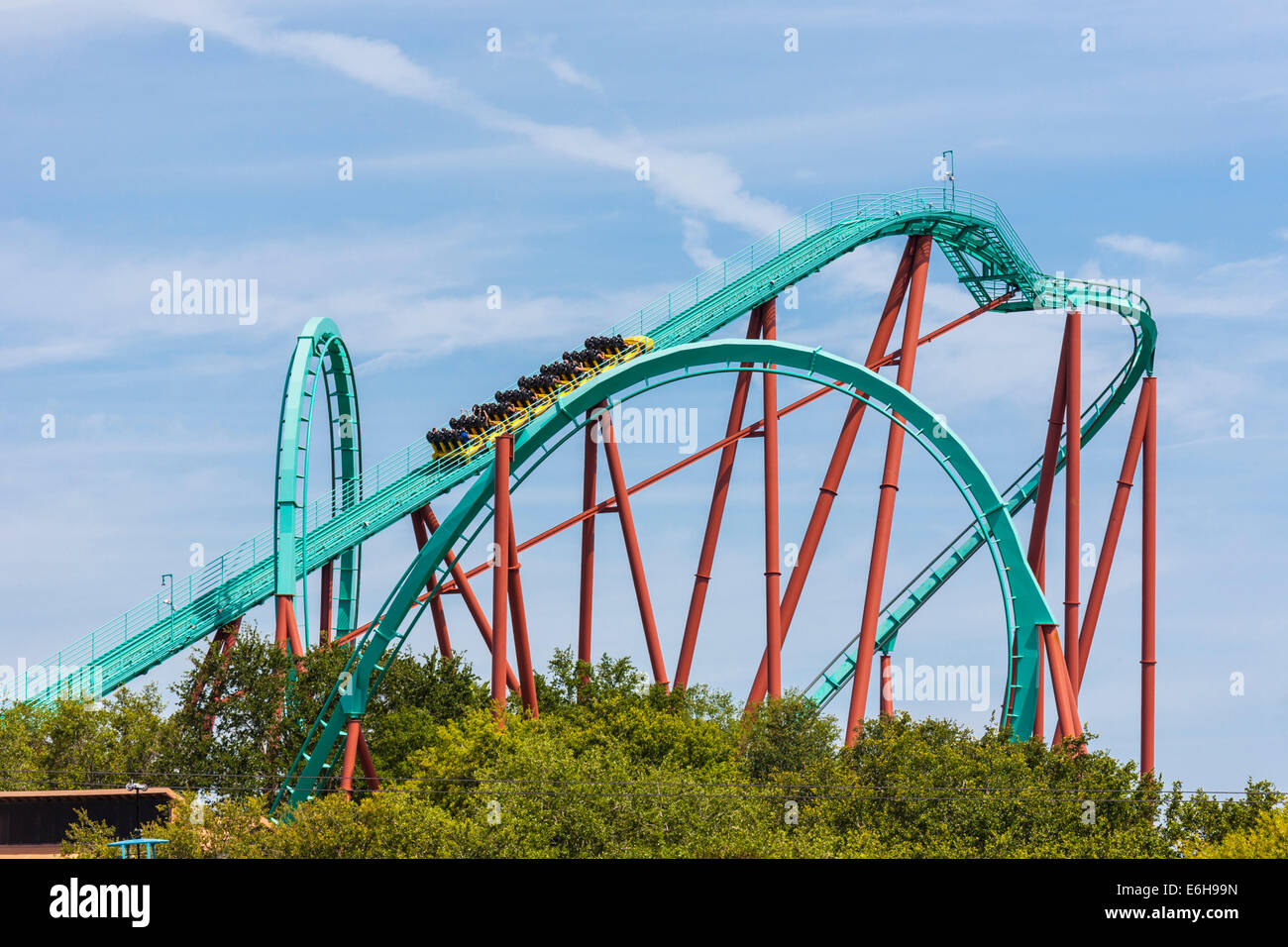 Busch gardens theme park stock photos busch gardens theme park stock images alamy for New roller coaster busch gardens