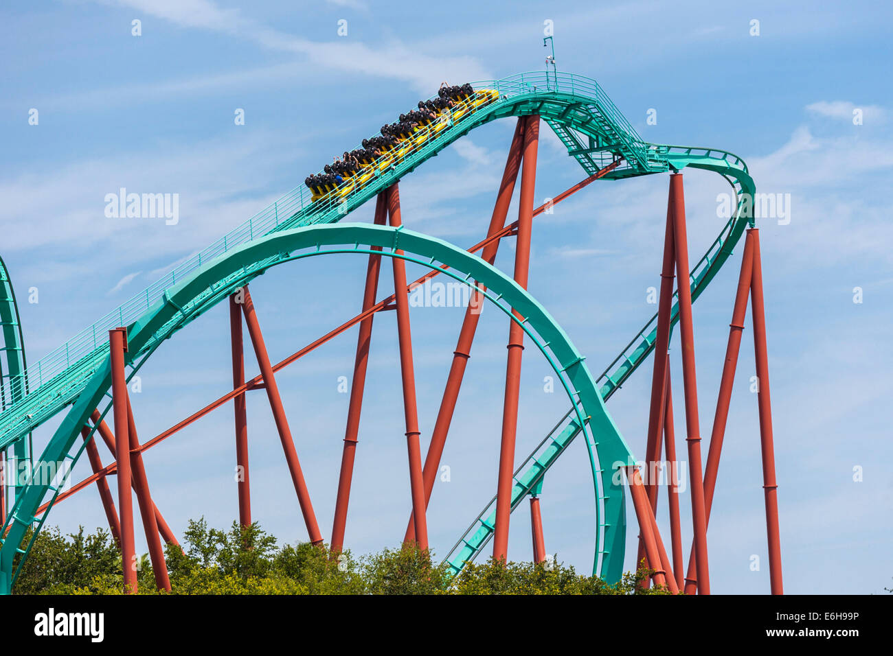 Busch gardens theme park stock photos busch gardens - Busch gardens tampa roller coasters ...