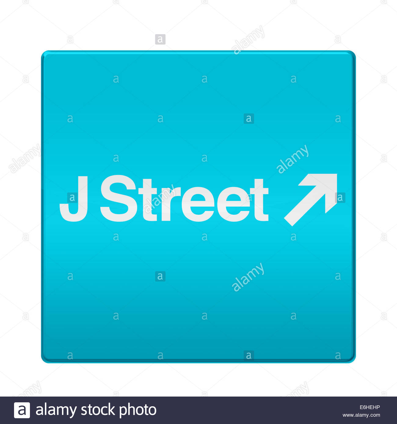 J Street logo icon isolated app button - Stock Image