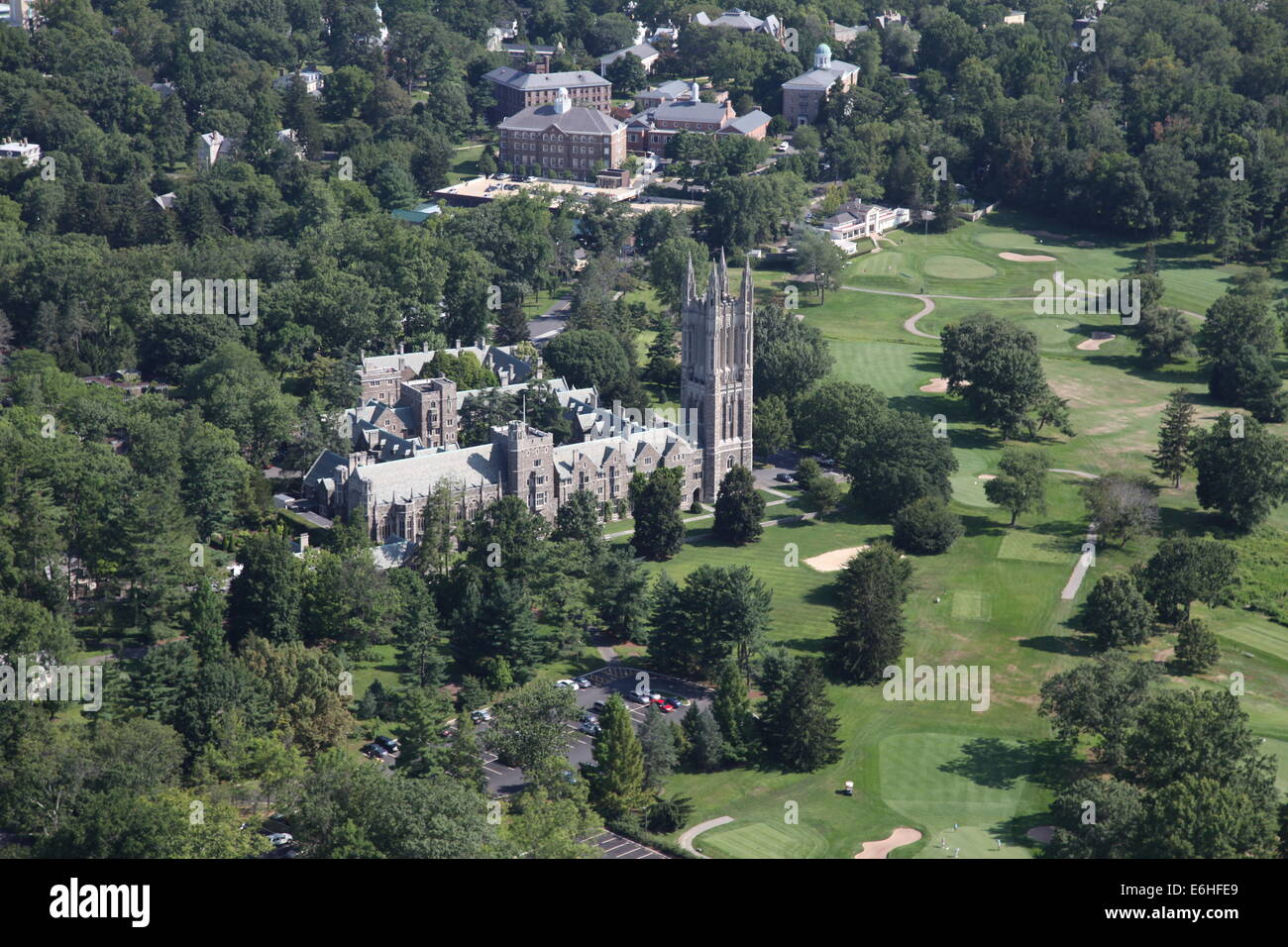 Aerial view of Princeton, New Jersey - Stock Image