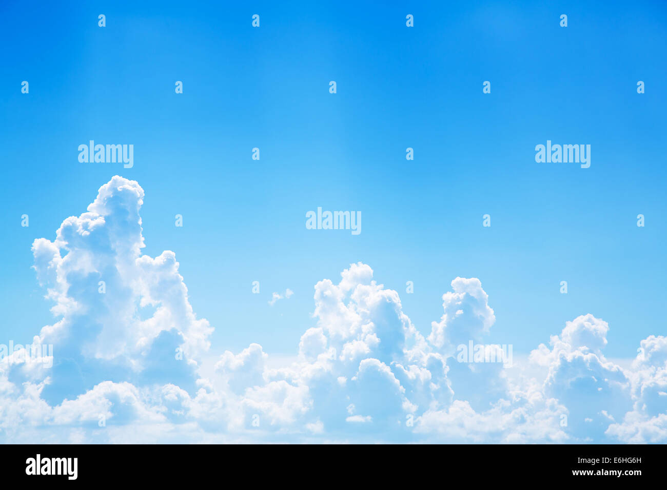 Blue Bright Sky Background With Clouds And Emotional Mood For Dreams Mourning Death Concepts Cloudy Texture