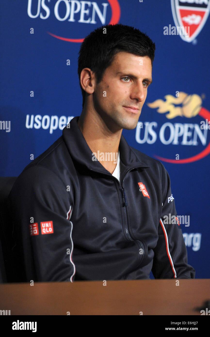 Novak Djokovic during the 2014 Arthur Ashe Kids' Day at USTA Billie Jean King National Tennis Center on August - Stock Image