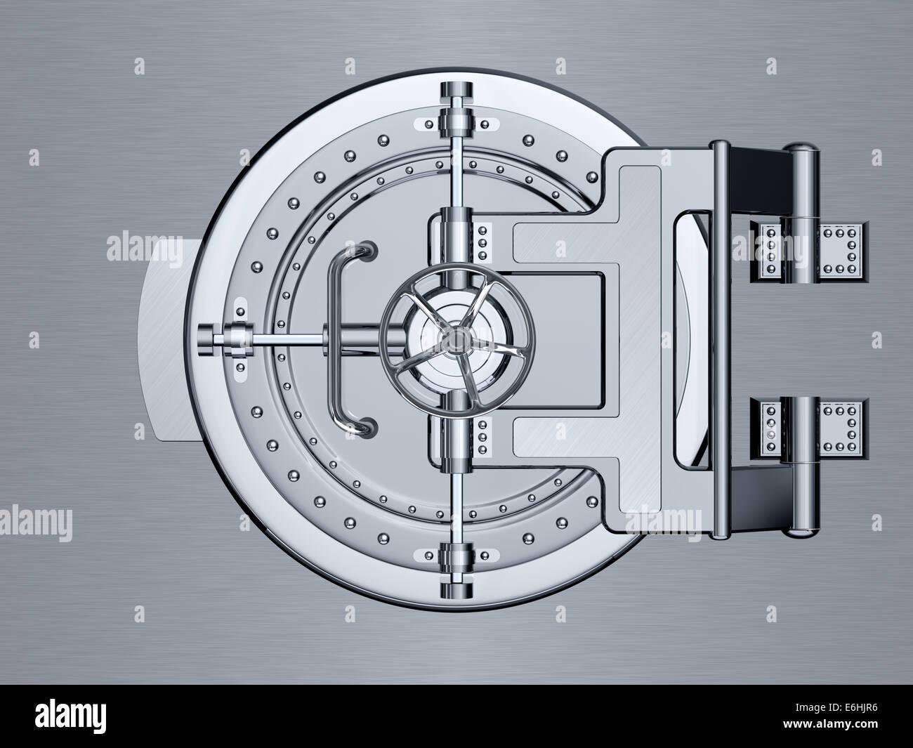 Closed Bank Vault Door - 3d render - Stock Image