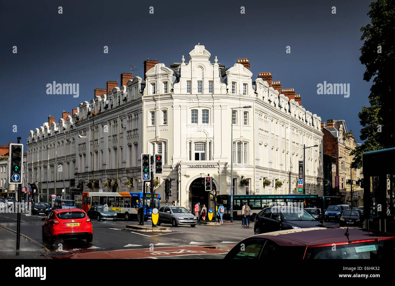 The Angel Hotel in Cardiff. - Stock Image