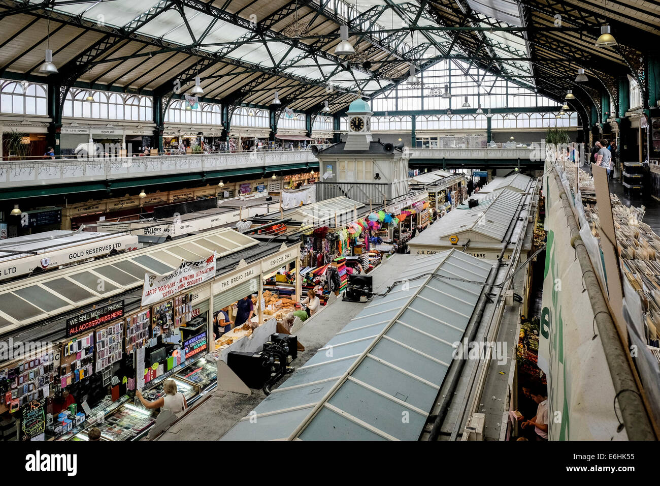 Cardiff Indoor Market. - Stock Image