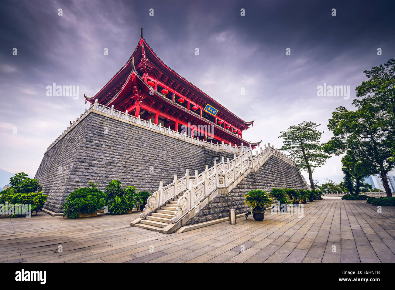 Fuzhou, China at the historic Zhenhai Tower. - Stock Image