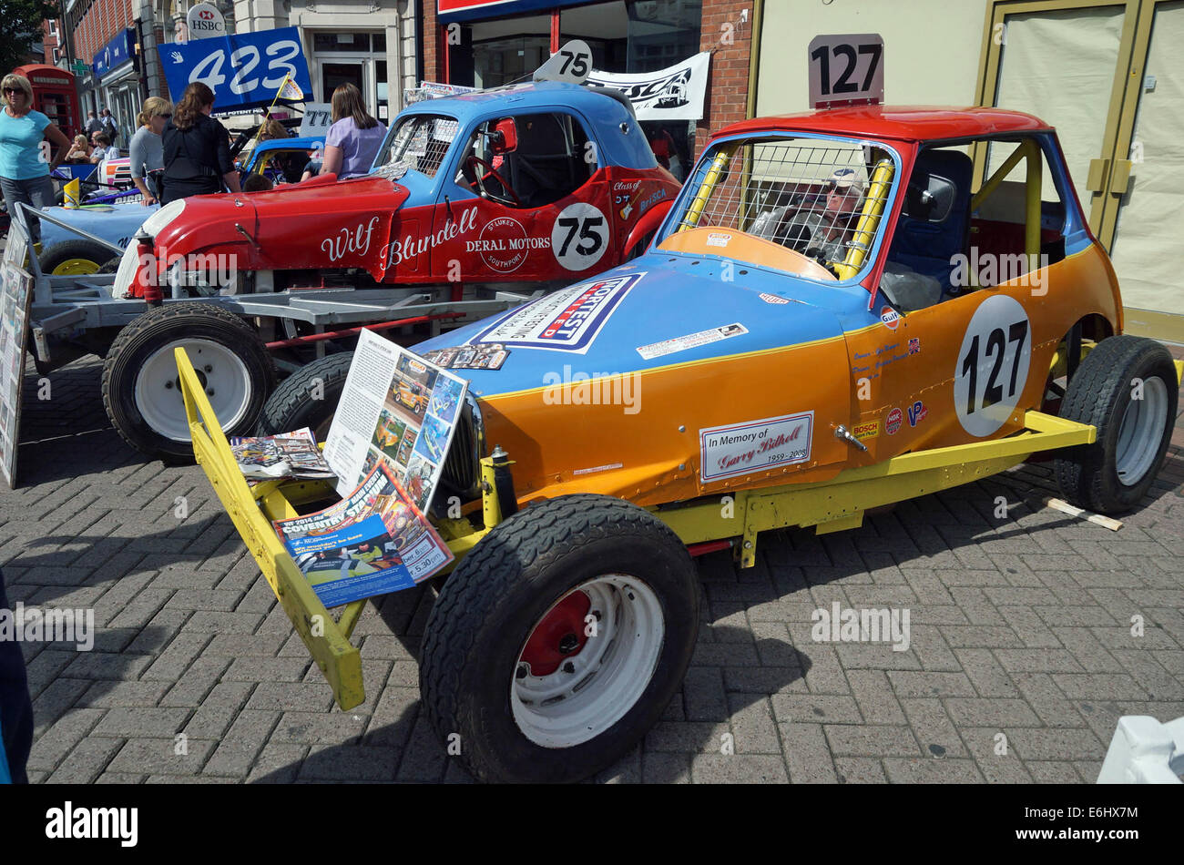 Ormskirk, Lancashire, UK. 24th August, 2014. A vast array of vintage and classic motor vehicles were on display - Stock Image
