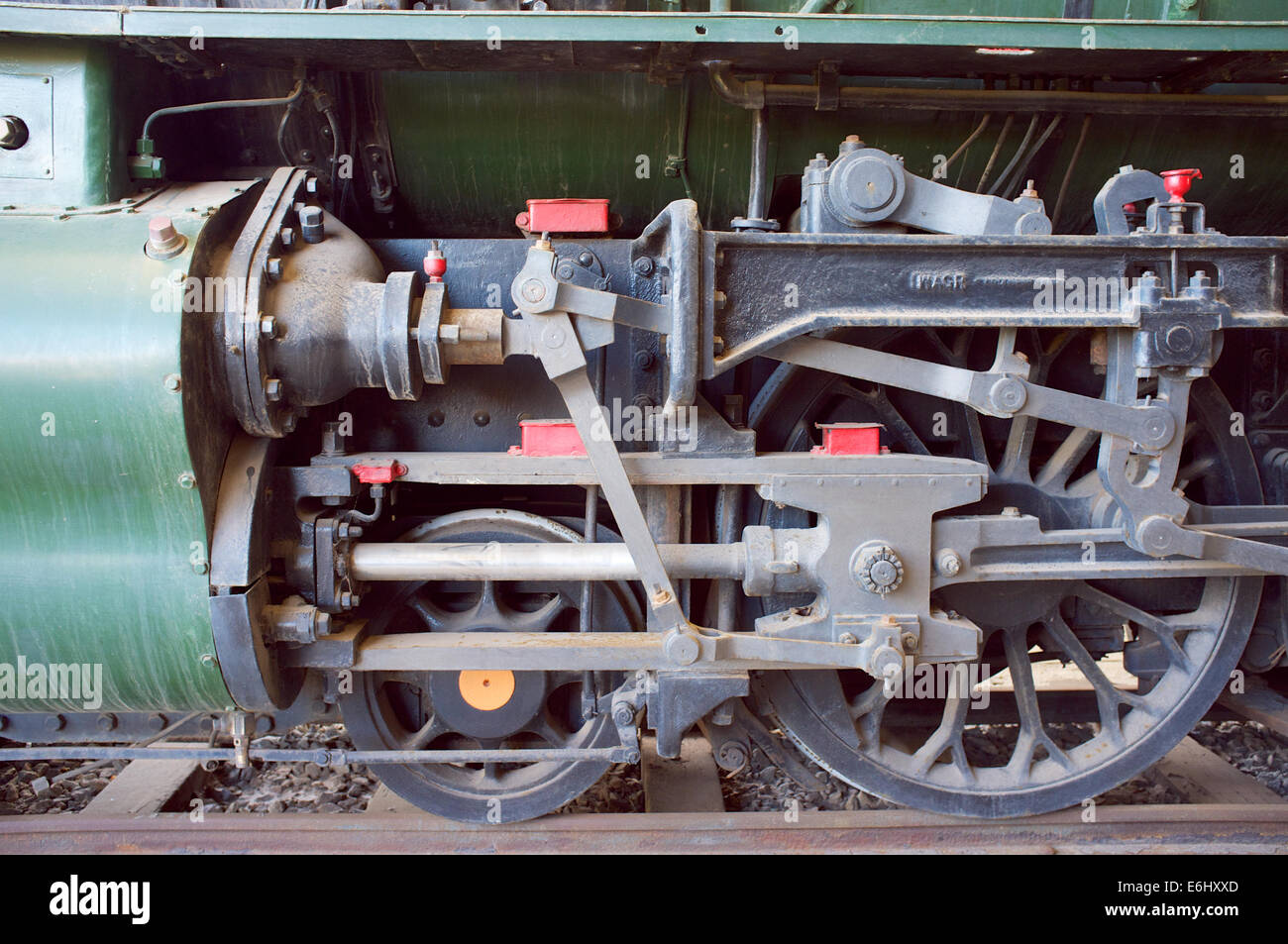 The front wheels of V1220 2-8-2, the largest steam