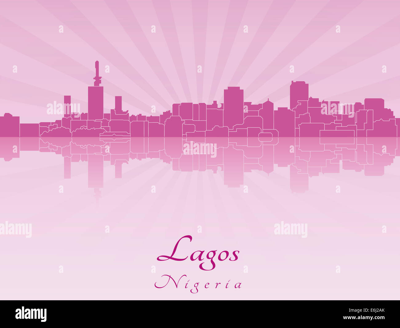 Lagos skyline in radiant - Stock Image