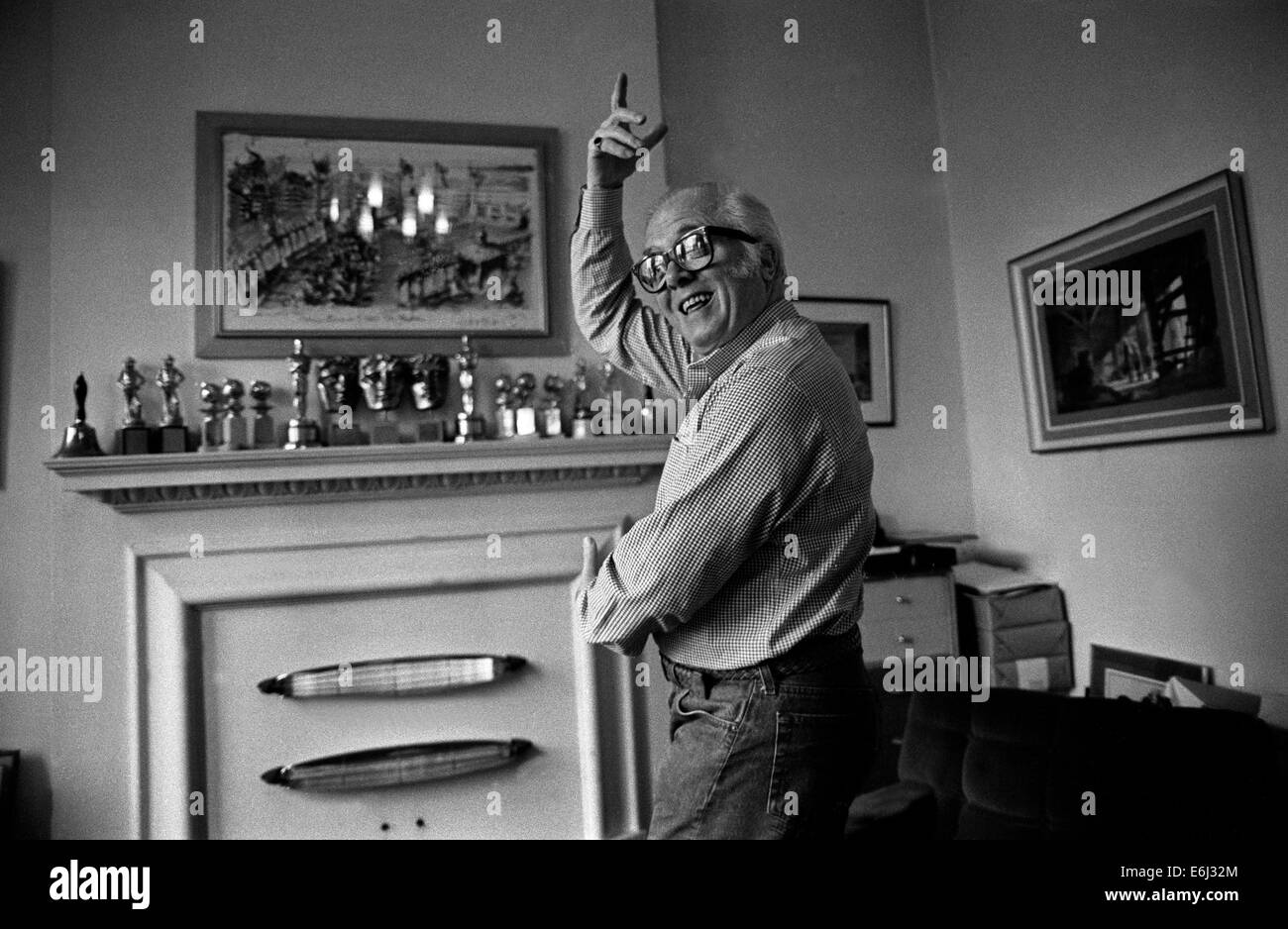 FILE PICS: Richmond, London. Richard Attenborough-born 1923-, actor,producer,director seen here at his home in Richmond - Stock Image