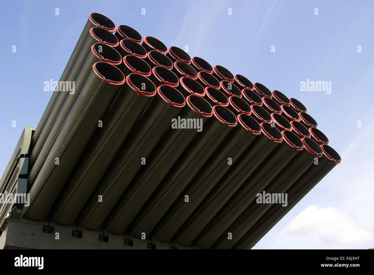 Grad, Russian multiple rocket launcher - Stock Image