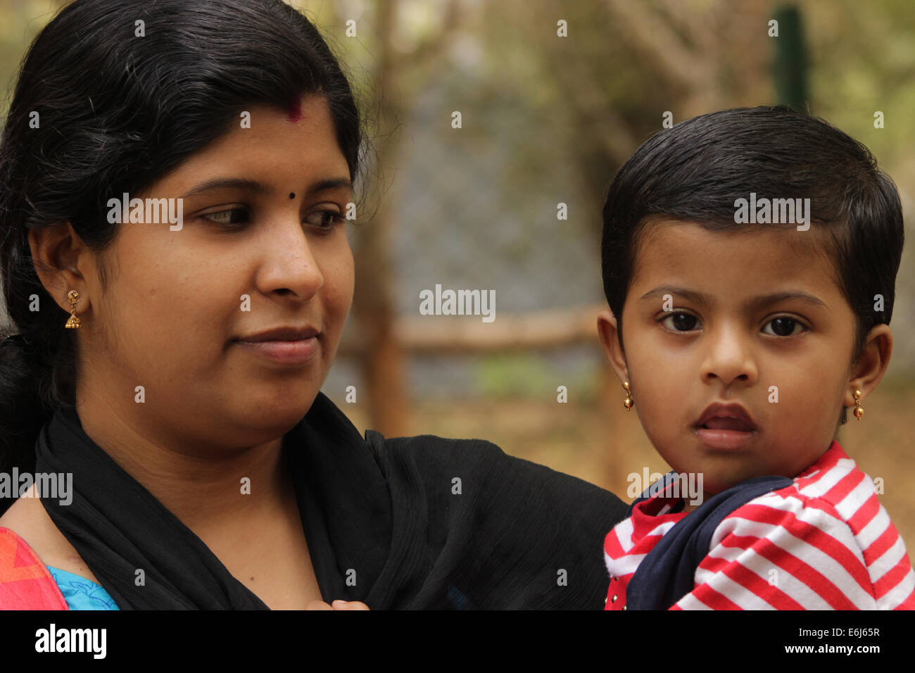 Indian Mom With Her Daughter