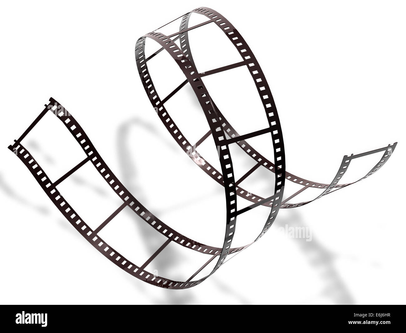 Filmstrip on white background, isolated Stock Photo