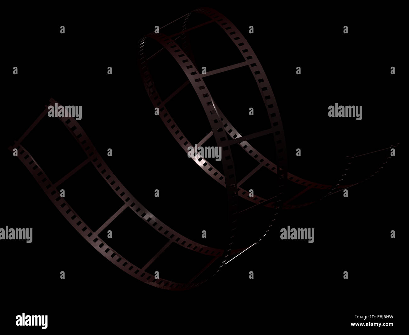 Filmstrip on black background Stock Photo